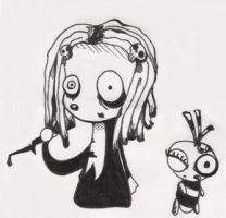 Lenore and Ragamuffin by AlmightySponge