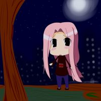 Chibi on the Night by gaixas1