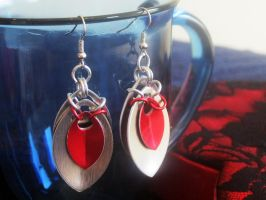Scalemaille Earrings by Lassarina-Jewelry