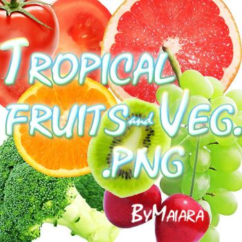 Tropical fruits .png by IGotTheLook