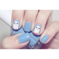 Penguin Nails by mapplejuice