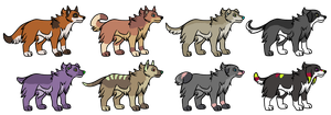 Canine Adoptables 3. by MichelsAdoptions