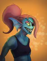 Undyne by Ahrjey