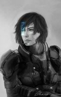 ME3: Shepard by Chacou