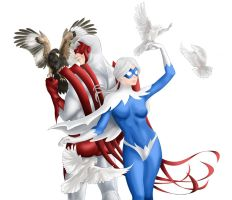 Hawk and Dove - coloured by Ayhe