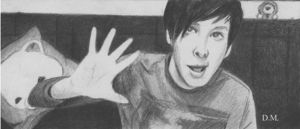 Day 10 - Draw Dan or/and Phil gif by DraconaMalfoy