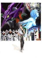 Evangelion It's the end of the world as we know it by l-Luciano