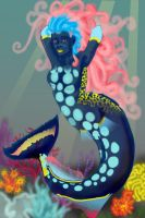 Clown Triggerfish Mermaid by evolra