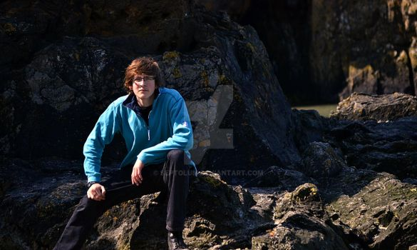 Portrait on a Rocky Beach by Septolum