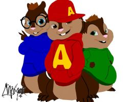 alvin and the chipmunks by chpmnk