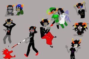 Ze Trolls of Homestuck by TheXRainbowXNinja