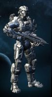 Halo 4 OC: Luke Dyke by purpledragon104