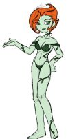 Poison Ivy Doodle by rongs1234