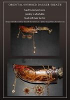 Leatherwork: Oriental Dagger Sheath by Darya87