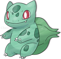001 Fushigidane, Bulbasaur by Pand-ASS