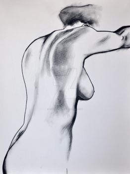 Female Nude in Charcoal by Child-Of-Gaea