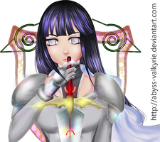 Hinata Hyuga claymore comm by Abyss-Valkyrie