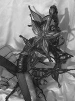 Blood-drop Orchid, B and W by GingerBedlam