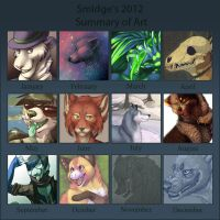 Summary of art 2012 by SmidgeFish