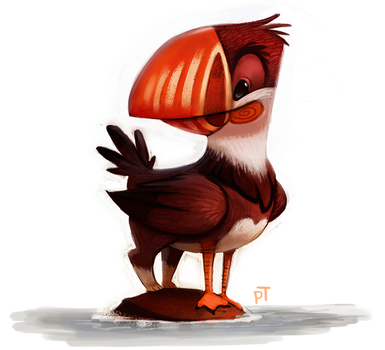 Day 551. Puffin Griffin by Cryptid-Creations