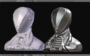 Sci-Fi Scuba suit bust WIP2 by betasector