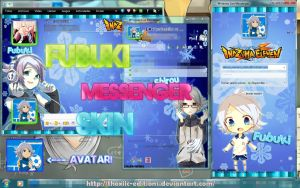 Fubuki Messenger Plus Skin by Thoxiic-Editions