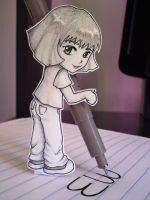 Me as paper child by Starke-Haz