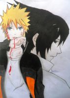 Naruto and Sasuke by bem10