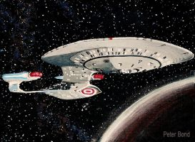 USS Enterprise NCC-1701-D by BondArt