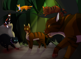 Tigerstar VS Scourge by DrakynWyrm