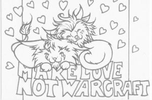 Make Love Not Warcraft ATC: Lines by lilena