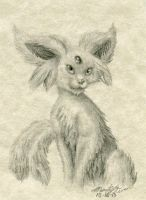 A Simple Espeon ACEO by FuzzyAcornIndustries