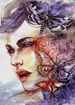 Moth To A Flame by Si3art