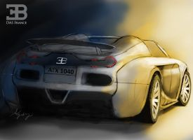 Bugatti Das France Rear View by ArielGutierrezDesign