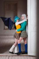 Kurumu Kurono and Moka Akashiya by Djezzi-Li