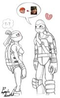 TMNT Donnie and Taly by propimol