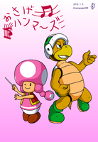 Toadette and Hammer Bros by doctorWalui