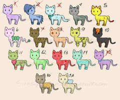 Cheap Cat adoptables 4/17 OPEN! (read description) by SimSuperFan