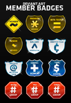 Deviant Art Member Badges by mushir