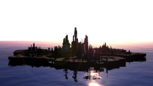 [Cinema 4D] SG:A wallpaper Sunrise by ericek111
