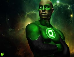 John stewart -  Green Lanter. Tyrese Gibson by spidermonkey23