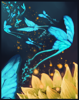 Blue and Gold by rajewel