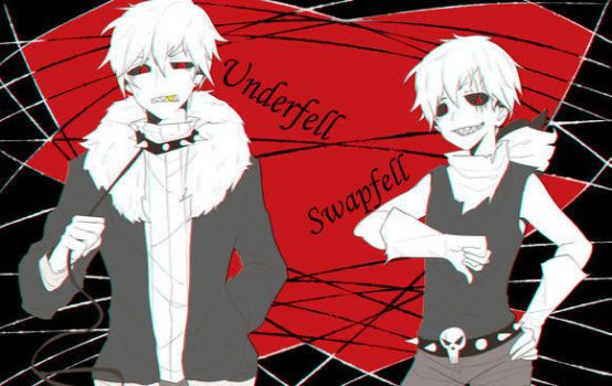 Underfell and Swapfell human sans by CharaLuvaChocolate