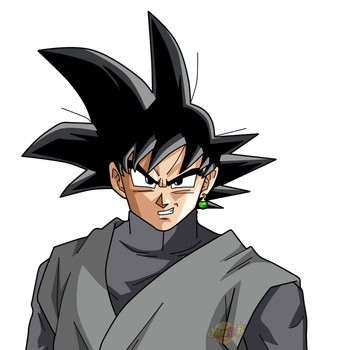 Goku Black Face v2 by jaredsongohan