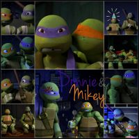 TMNT:: Donnie and Mikey by Culinary-Alchemist