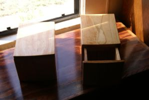 Bedside Shelves with Drawers by KW-Scott
