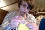Crocheter at Work by Crazylittleloon