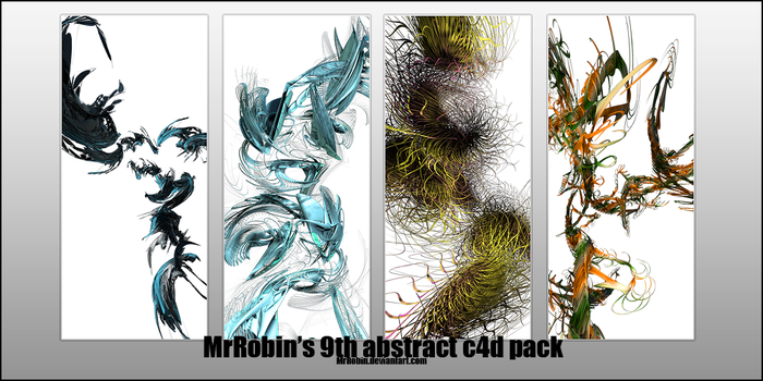 MrRobin abstract c4d pack 9 by MrRoBiN