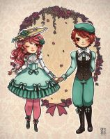Lolita and Kodona by Coffeshere