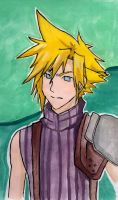 Cloud Strife- Coloured by Shinigamichick39
